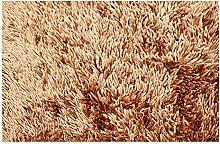 Teppich Shaggy 50 x 70 cm Badvorleger Honig Badematte Bettvorlege