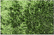 Teppich Shaggy 50 x 70 cm Badvorleger Olivgrün Badematte Bettvorlege