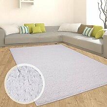 Teppich Shaggy Hochflor Einfarbig Flokati für verschiedene Zimmer Günstig Angebot Weiß 70x250 cm