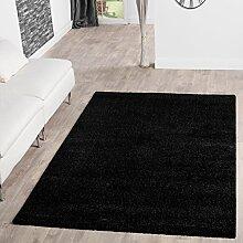 Teppich Shaggy Hochflor Teppiche Langflor Modern Weich Qualität In Schwarz, Größe:120x170 cm