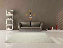 Teppich Shaggy Uni Soft Elfenbeinfarben 120x