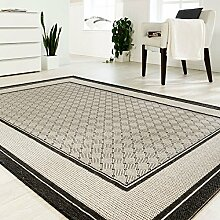 Teppich Sisal Optik anthrazit 67 x 180 cm