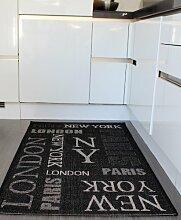 Teppich Sisal Optik Anthrazit Graphite City London, New York Neu*OVP, Grösse:120x170 cm