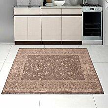 Teppich SISAL Optik in Beige - Ornamente Küche