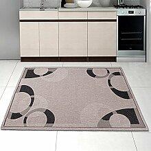 Teppich SISAL Optik in Silber Grau - Modern Küche