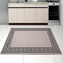 Teppich SISAL Optik in Silber - Modern Küche