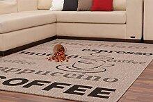 Teppich Sisal Optik Klassisch Modern Kaffee Design