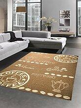 Teppich Sisal Optik Küchenläufer Küchenteppich Coffee braun Größe 80x150 cm