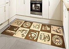 Teppich Sisal Optik Küchenläufer Küchenteppich Coffee braun Größe 80x200 cm