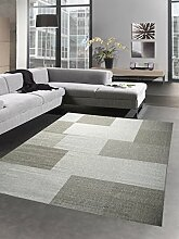Teppich Sisal Optik Küchenläufer Küchenteppich Karo grau Größe 160x220 cm