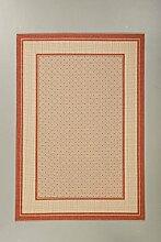 Teppich Sisal Optik terra 60 x 110 cm
