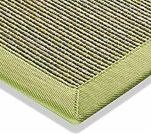 Teppich Sisaloptik Outdoor Flachgewebe modern Küchenteppich grün beige natur, verschiedene Größen, Variante: 67 x 133 cm