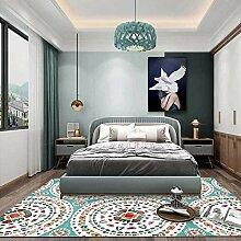 Teppich sitzecke Blauer brauner geometrischer