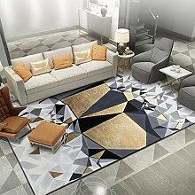 Teppich sitzecke Goldener schwarzer Grauer Luxus