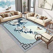 Teppich sitzecke küche Anti-Rutsch-blau grau
