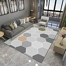 Teppich sitzecke Teppich Gelbes blau graues