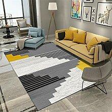 Teppich sitzecke Wohnzimmer Teppich Gelb schwarz