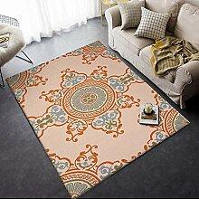 Teppich sitzecke Wohnzimmer Teppich Gelbblauer