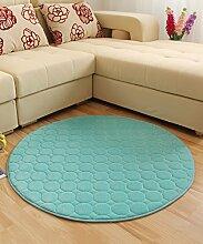 Teppich Solid Color Round Teppich Einfache kreative Teppich Sofa Couchtisch Teppich rutschfeste Türmatten Wohnzimmer Hall Schlafzimmer Teppich Lebensmittel ( Farbe : B , größe : 120*120CM )