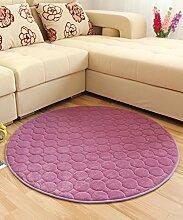 Teppich Solid Color Round Teppich Einfache kreative Teppich Sofa Couchtisch Teppich rutschfeste Türmatten Wohnzimmer Hall Schlafzimmer Teppich Lebensmittel ( Farbe : G , größe : 100*100CM )