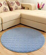 Teppich Solid Color Round Teppich Einfache kreative Teppich Sofa Couchtisch Teppich rutschfeste Türmatten Wohnzimmer Hall Schlafzimmer Teppich Lebensmittel ( Farbe : D , größe : 100*100CM )