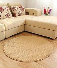 Teppich Solid Color Round Teppich Einfache kreative Teppich Sofa Couchtisch Teppich rutschfeste Türmatten Wohnzimmer Hall Schlafzimmer Teppich Shaggy Teppich ( Farbe : C , größe : 110*110CM )