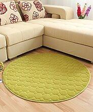 Teppich Solid Color Round Teppich Einfache kreative Teppich Sofa Couchtisch Teppich rutschfeste Türmatten Wohnzimmer Hall Schlafzimmer Teppich Lebensmittel ( Farbe : F , größe : 100*100CM )