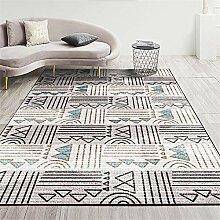 Teppich spielteppich Blaues und graues Wohnzimmer