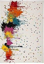Teppich Splash Muster Farbklex Design Teppiche