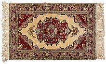 Teppich Taimani alt Russland ca. 135 x 80 cm · Braun · handgeknüpft · Schurwolle · Klassisch · hochwertiger Teppich · 13664