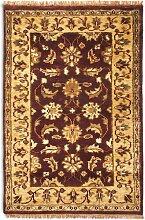 Teppich Taj in Dunkelrot/Beige Plantation Rug