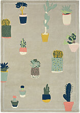 Teppich Ted Baker Cactus Brink & Campman grau,