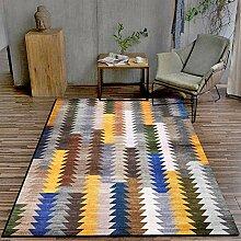 Teppich Teppich büro Blaues gelbes graues Mosaik
