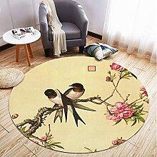 Teppich Teppich Cartoon Chinesische Pflanze Blume