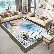 Teppich Teppich esszimmer Blauer schwarzer brauner
