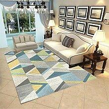 Teppich Teppich für Balkon Blauer gelber Khaki