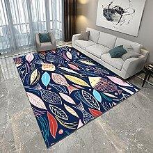Teppich Teppich für Balkon Blauer und gelber