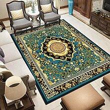 Teppich Teppich für Flur Blaues schwarzes gelbes