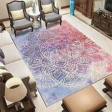 Teppich Teppich für Flur Lila roter Farbverlauf