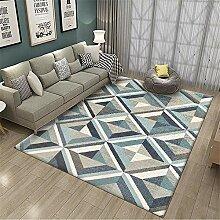 Teppich Teppich für kinderzimmer Blauer schwarzer