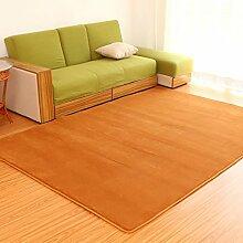 Teppich Teppich Wohnzimmer Schlafzimmer Solid Color Tuch Square Tea Tisch Nachttisch Teppich ( Farbe : Braun , größe : 100×160CM )