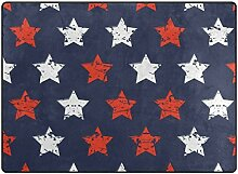 Teppich Teppiche American Independence Day Flagge