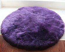Teppich teppiche plüsch round carpet wohnzimmer bett mit einem fenster voller teppiche-C Durchmesser150cm(59inch)
