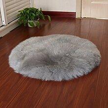 Teppich teppiche plüsch round carpet wohnzimmer bett mit einem fenster voller teppiche-B Durchmesser110cm(43inch)