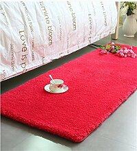 Teppich Thicker Full Floor Türmatten Schlafzimmer Nachttisch Teppich Lange Fuß Teppich Fenster Matten Lebensmittel ( Farbe : J , größe : 50*170cm )