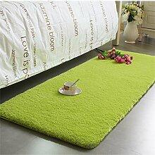 Teppich Thicker Full Floor Türmatten Schlafzimmer Nachttisch Teppich Long Bay Fenstermatten Lebensmittel ( Farbe : B , größe : 80*200cm )