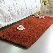 Teppich Thicker Full Floor Türmatten Schlafzimmer Nachttisch Teppich Lange Fuß Teppich Fenster Matten Lebensmittel ( Farbe : A , größe : 50*170cm )
