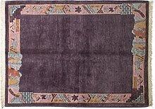 Teppich Tibeter Nepal ca. 225 x 170 cm · Violett · handgeknüpft · Schurwolle · Modern · hochwertiger Teppich · 15155