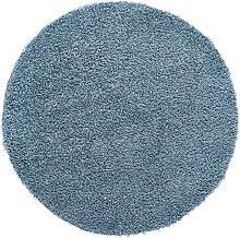 Teppich Toronto rund, blau (Ø 120 cm)
