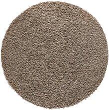 Teppich Toronto rund, grau (Ø 120 cm)